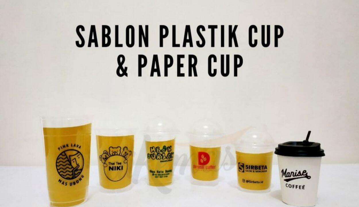 sablon gelas plastik murah jakarta